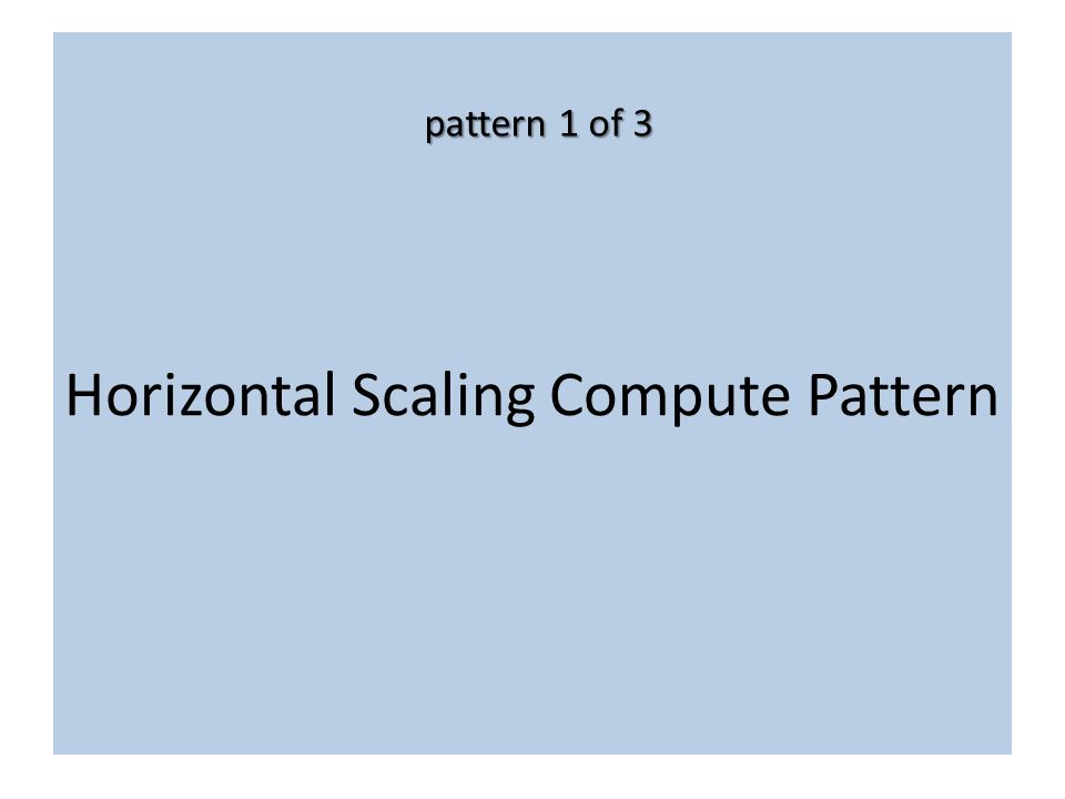 Horizontal Scaling Compute Pattern