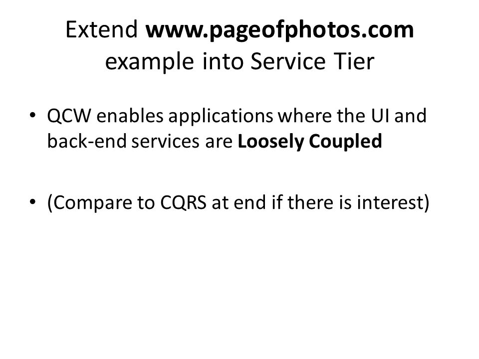 Extend www.pageofphotos.com example into Service Tier