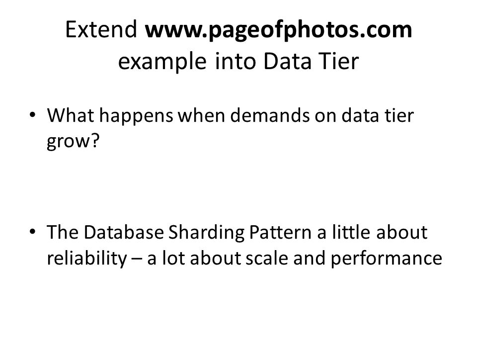 Extend www.pageofphotos.com example into Data Tier