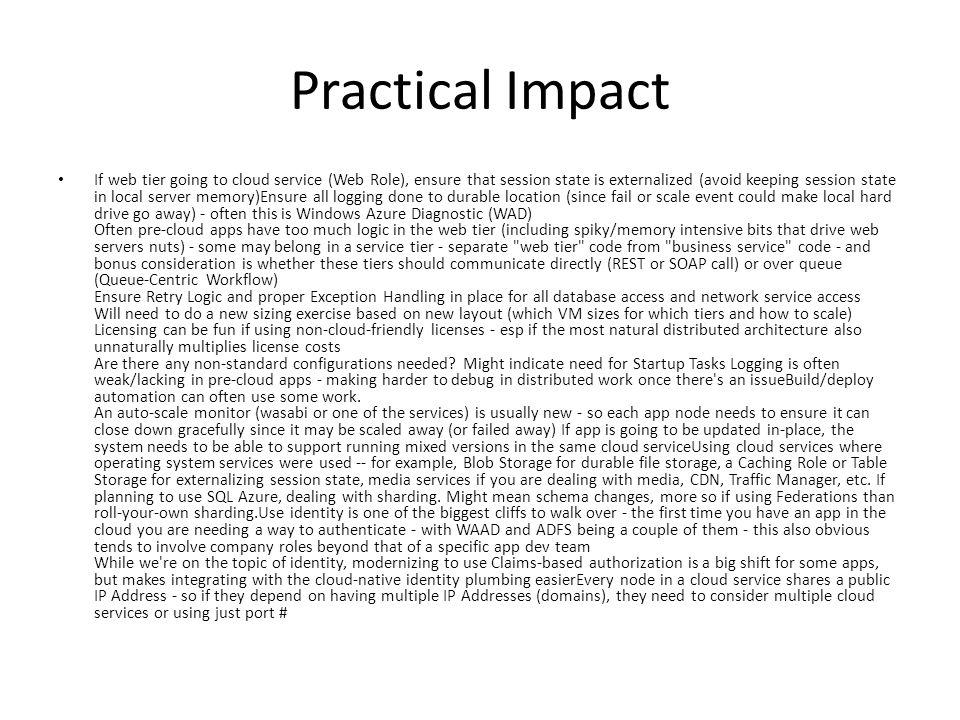 Practical Impact