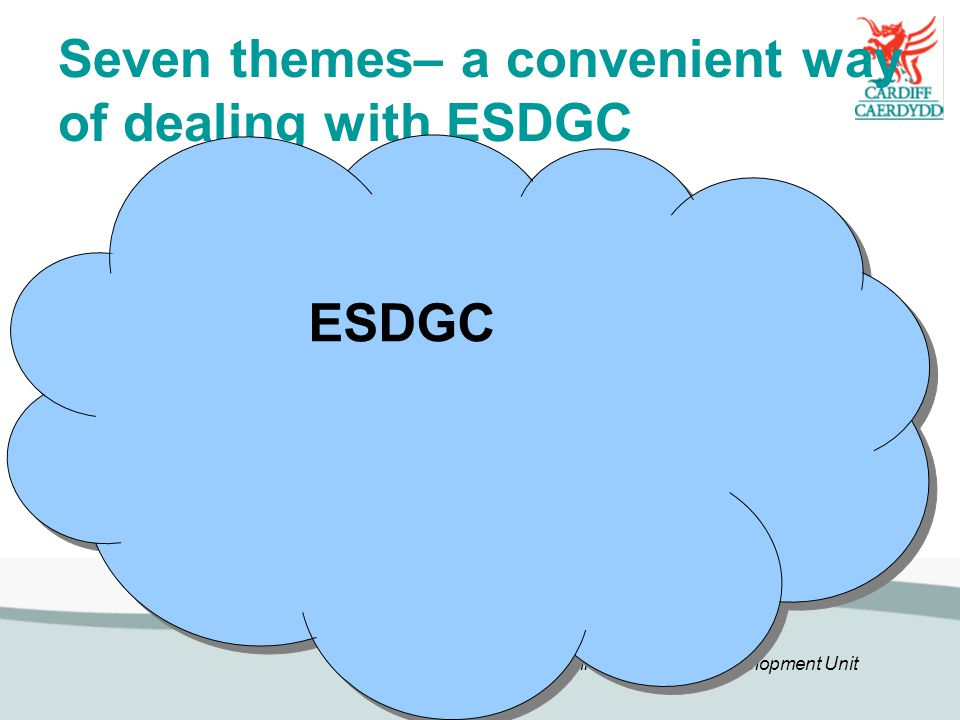 Seven themes– a convenient way of dealing with ESDGC