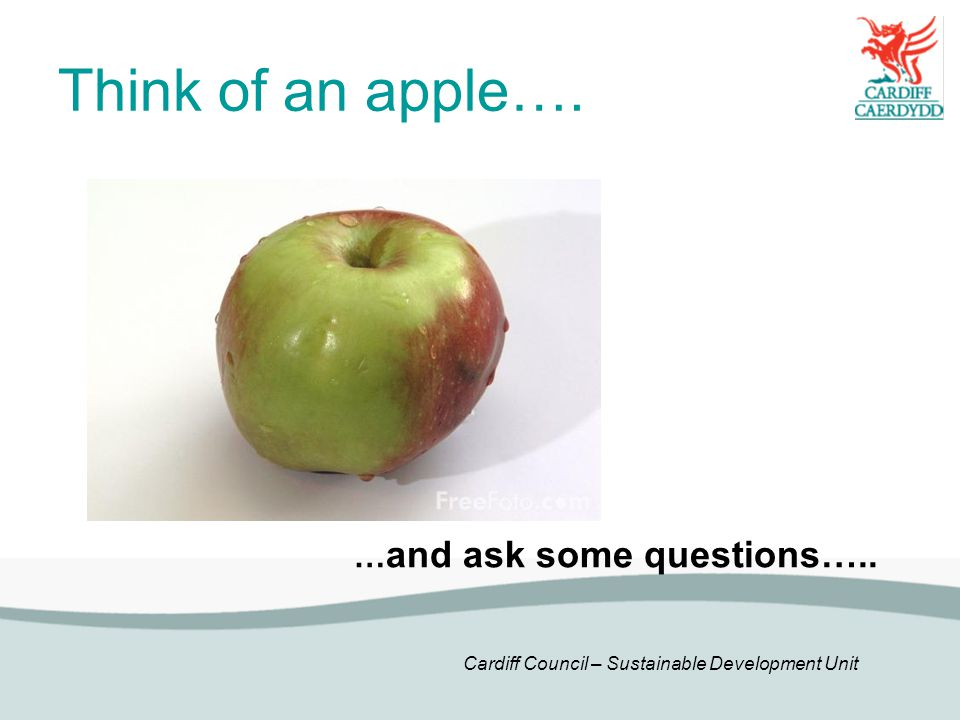 Think of an apple…. …and ask some questions…..