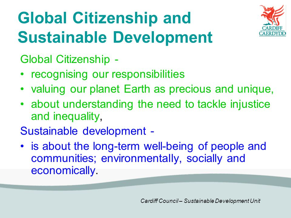 Global Citizenship and Sustainable Development