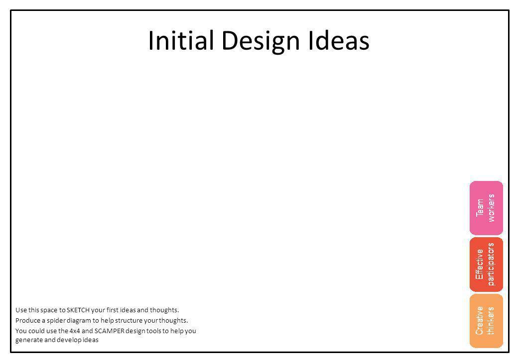 Initial Design Ideas