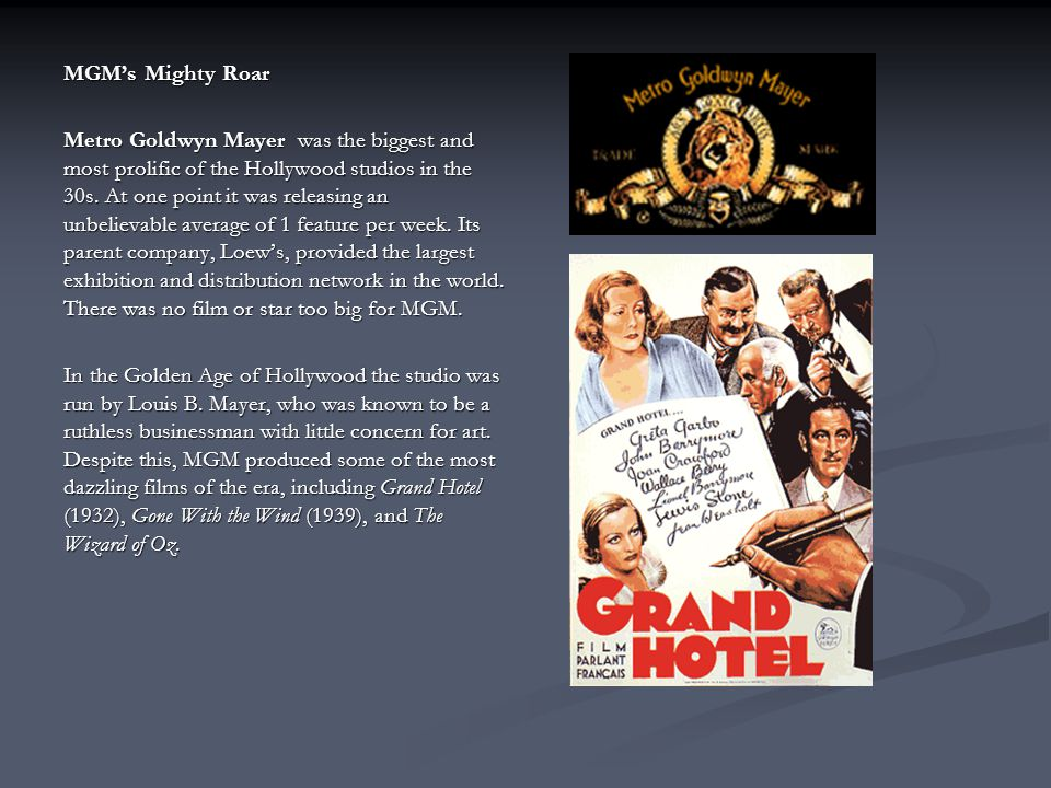MGM's Mighty Roar