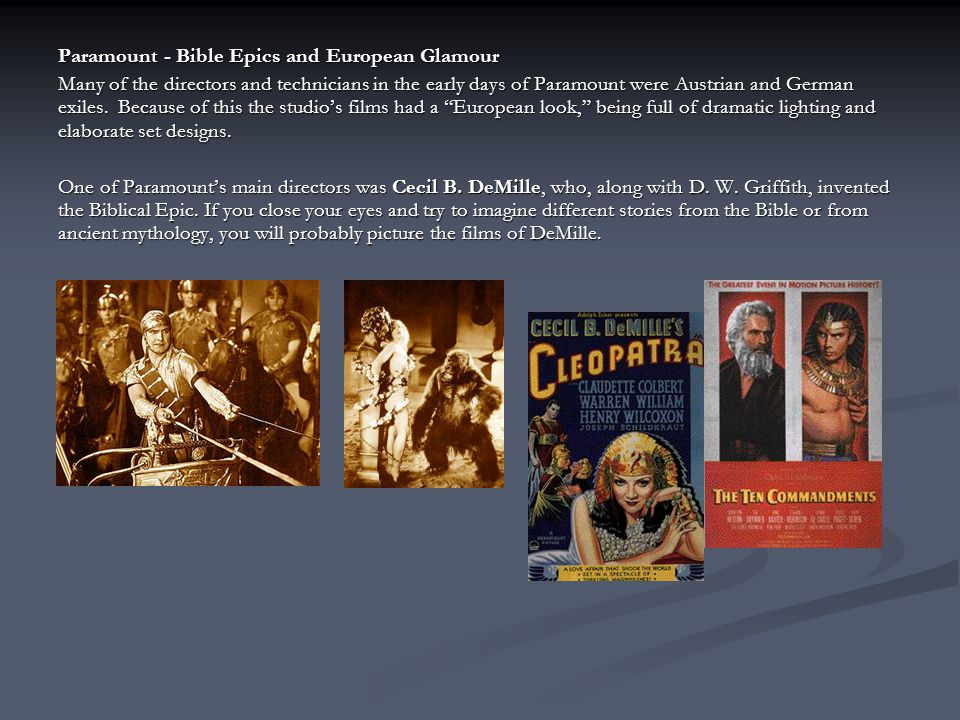 Paramount - Bible Epics and European Glamour