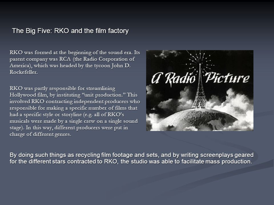 The Big Five: RKO and the film factory