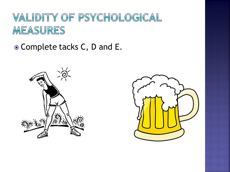 Validity of psychological measures