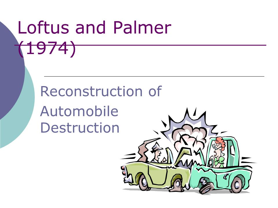 loftus and palmers aims and context
