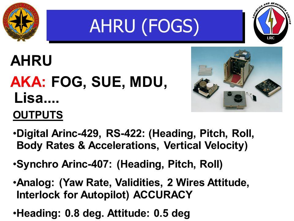 AHRU (FOGS) AHRU AKA: FOG, SUE, MDU, Lisa.... OUTPUTS