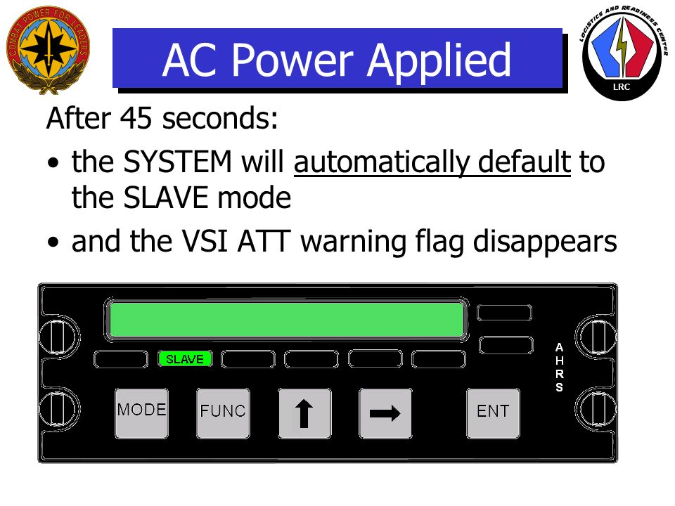 AC Power Applied After 45 seconds: