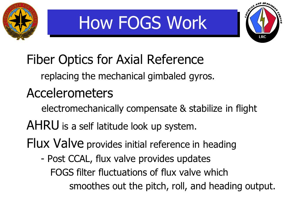 How FOGS Work Fiber Optics for Axial Reference replacing the mechanical gimbaled gyros. Accelerometers.