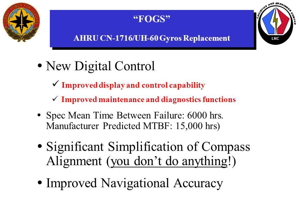 FOGS AHRU CN-1716/UH-60 Gyros Replacement