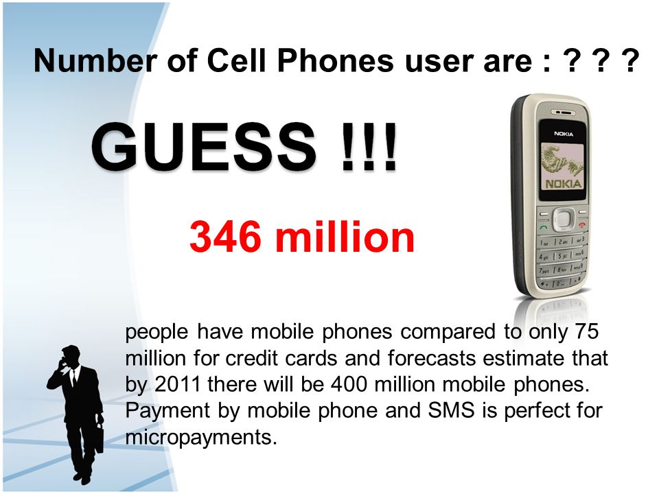 346 million Number of Cell Phones user are :