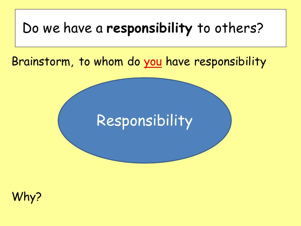 Do we have a responsibility to others