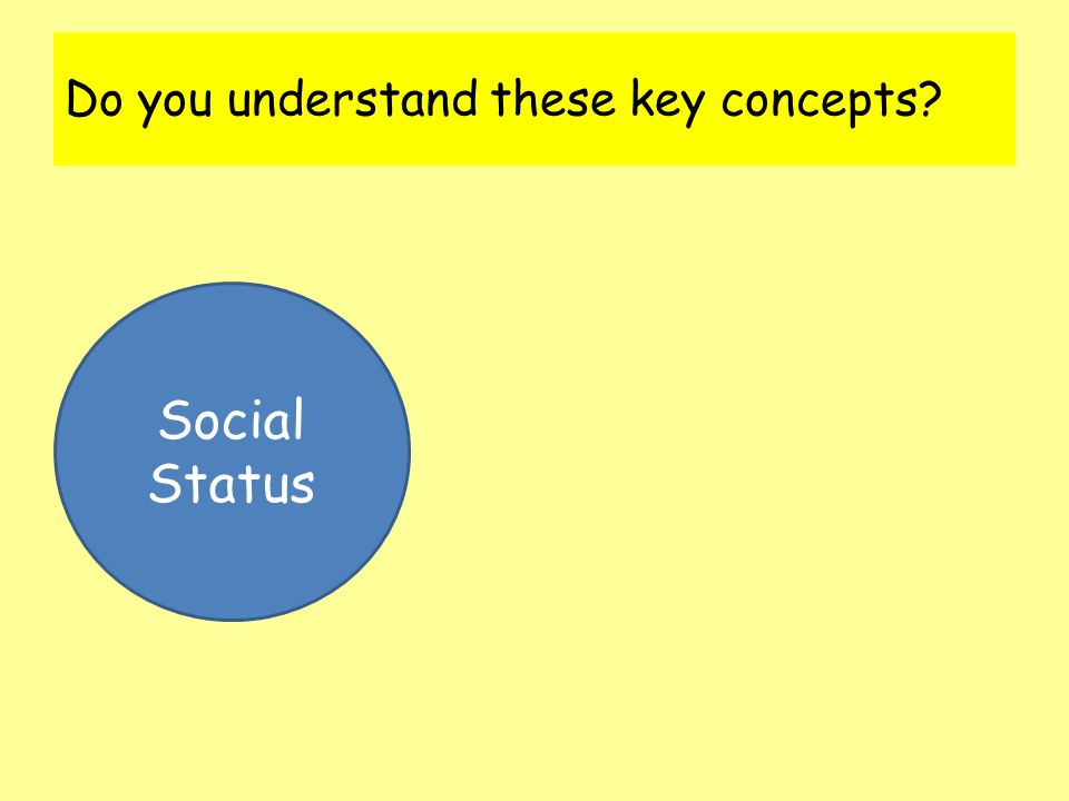 Do you understand these key concepts