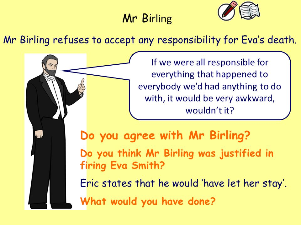 Do you agree with Mr Birling
