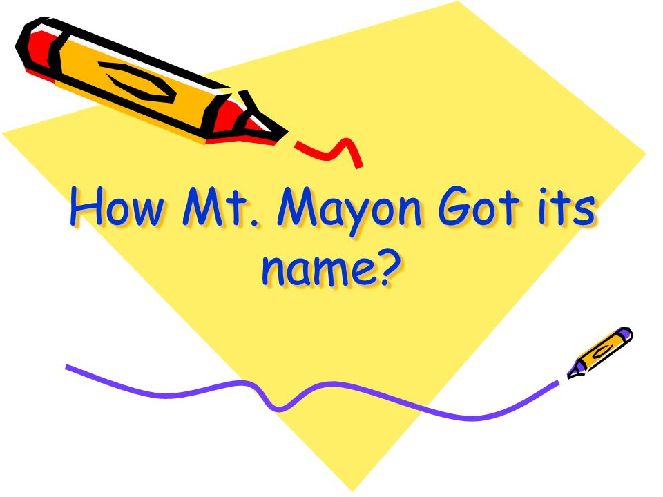 How Mt. Mayon Got its name
