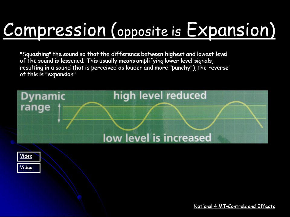 Compression (opposite is Expansion)