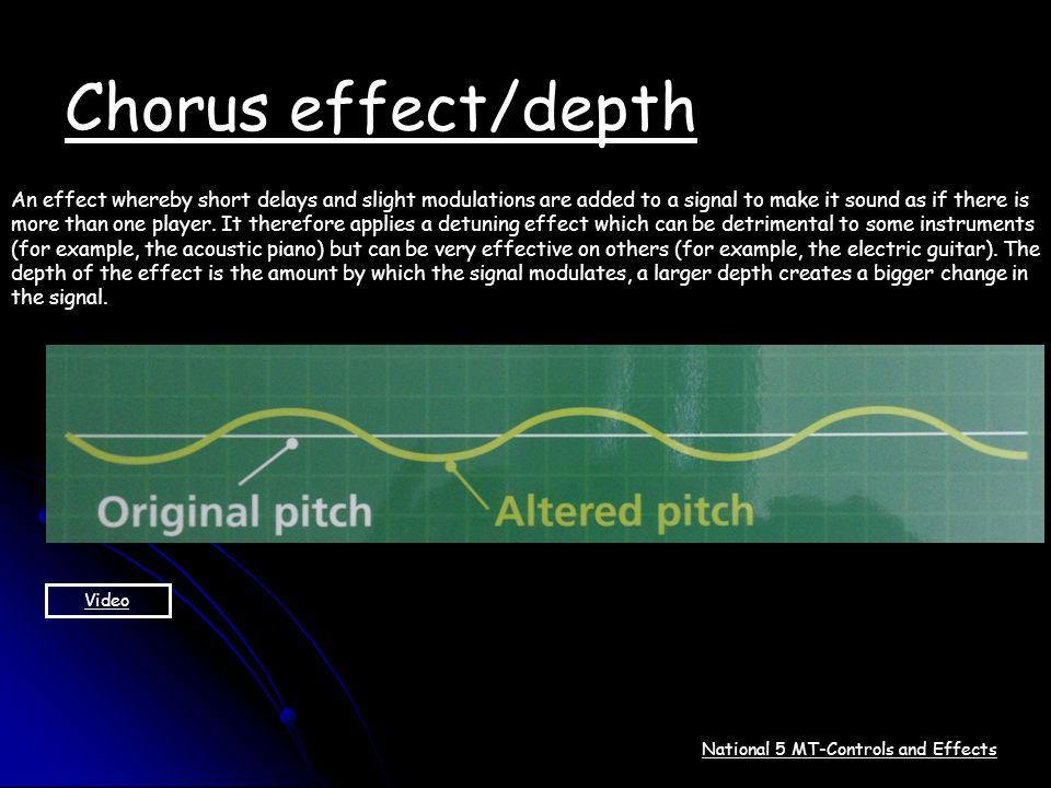 Chorus effect/depth