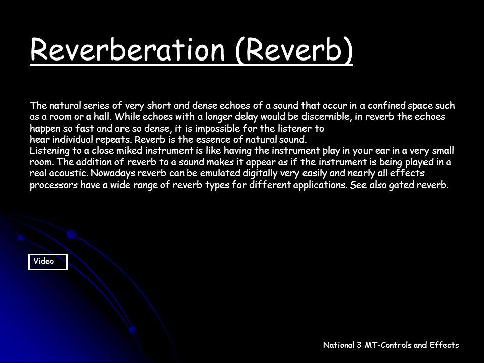Reverberation (Reverb)