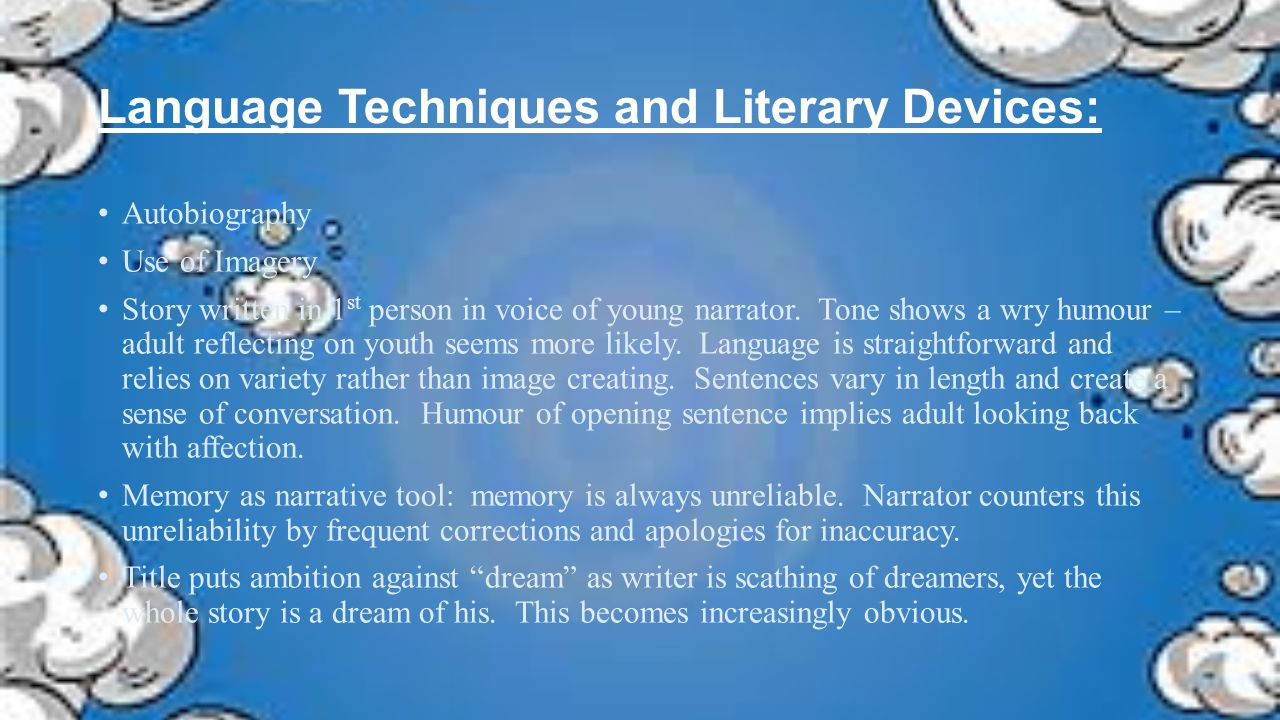 Language Techniques and Literary Devices: