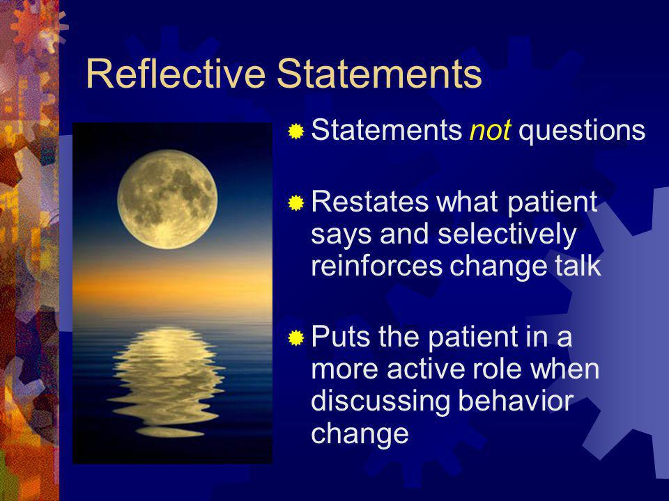 Reflective Statements