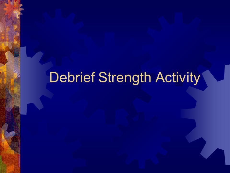 Debrief Strength Activity