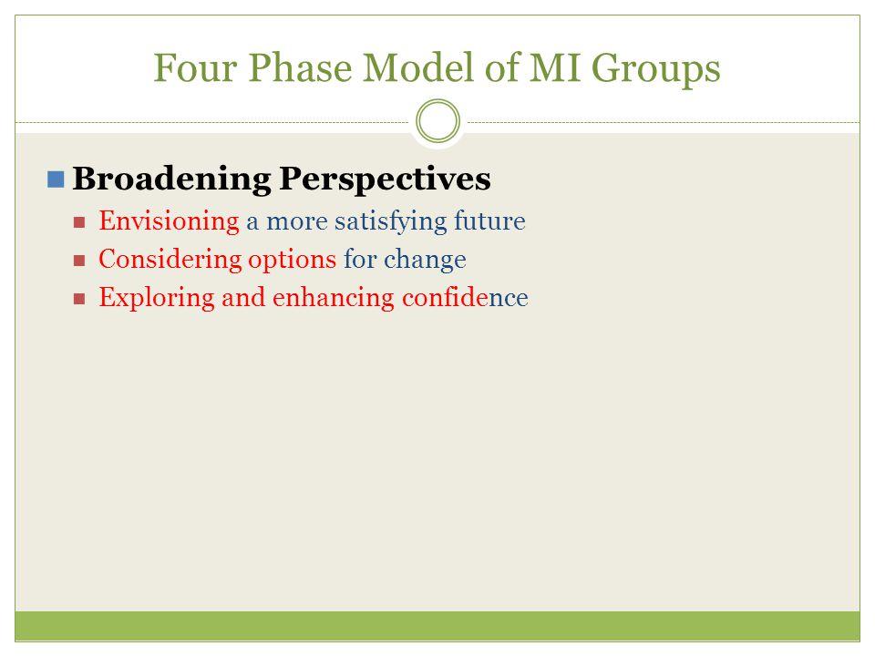 Four Phase Model of MI Groups