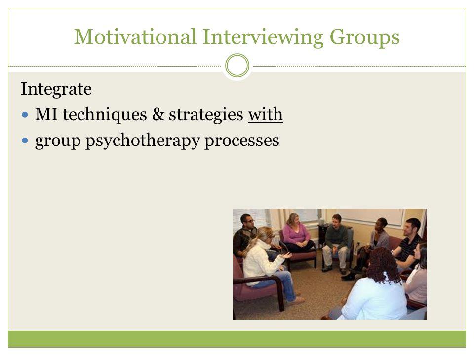 Motivational Interviewing Groups