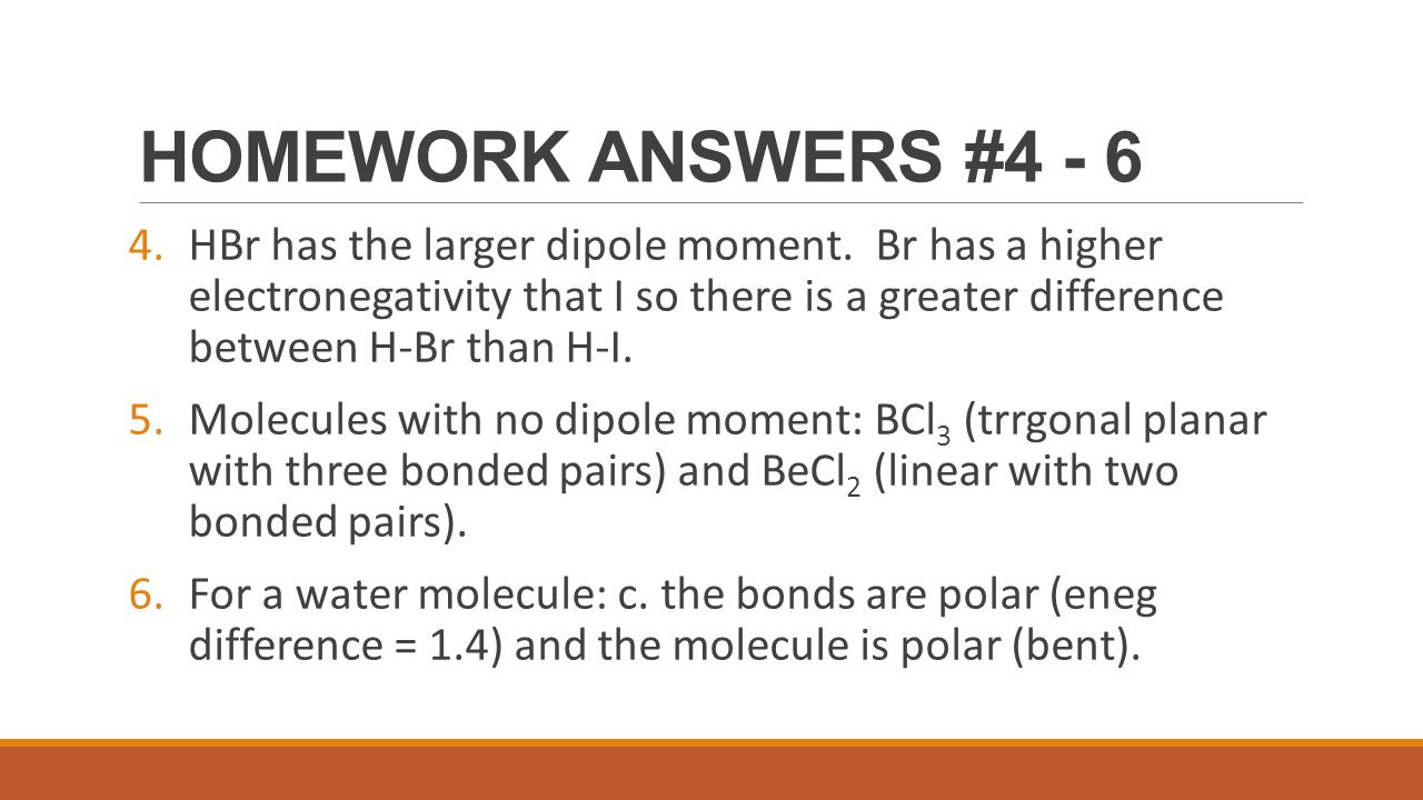 HOMEWORK ANSWERS #4 - 6