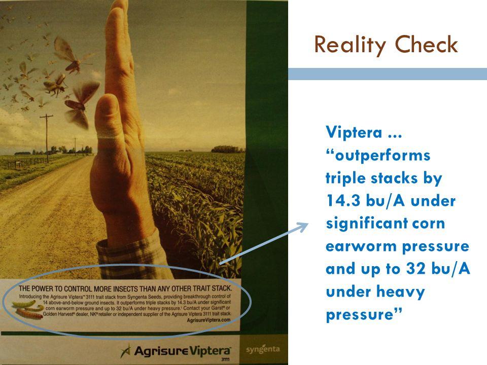Reality Check Viptera ...