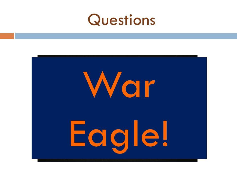 Questions War Eagle!