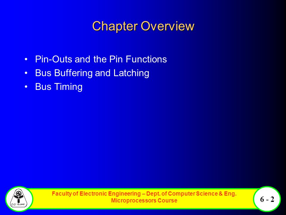 Chapter Overview Pin-Outs and the Pin Functions