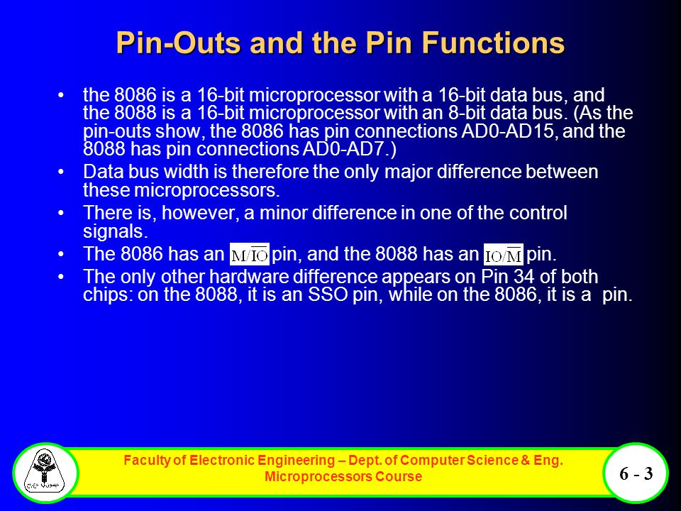 Pin-Outs and the Pin Functions