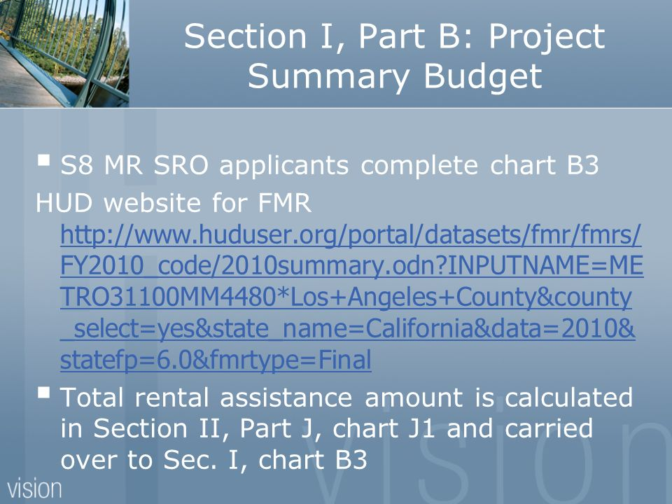 Section I, Part B: Project Summary Budget