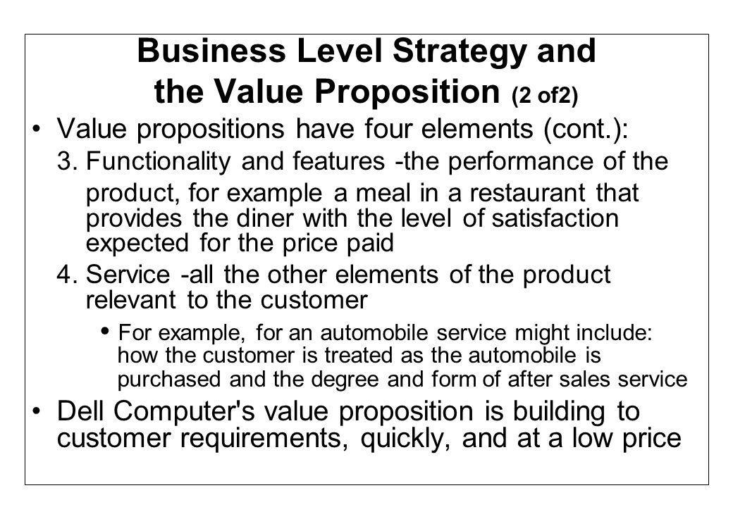 Business Level Strategy and
