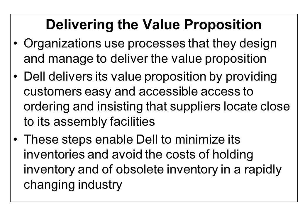 Delivering the Value Proposition