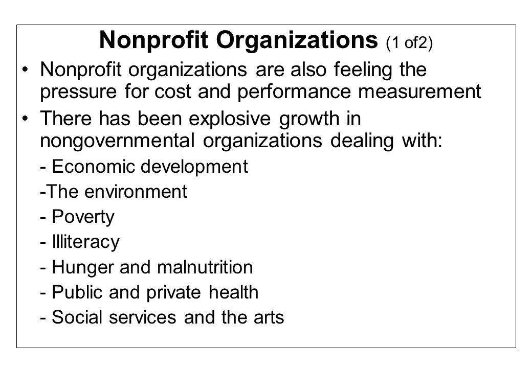 Nonprofit Organizations (1 of2)