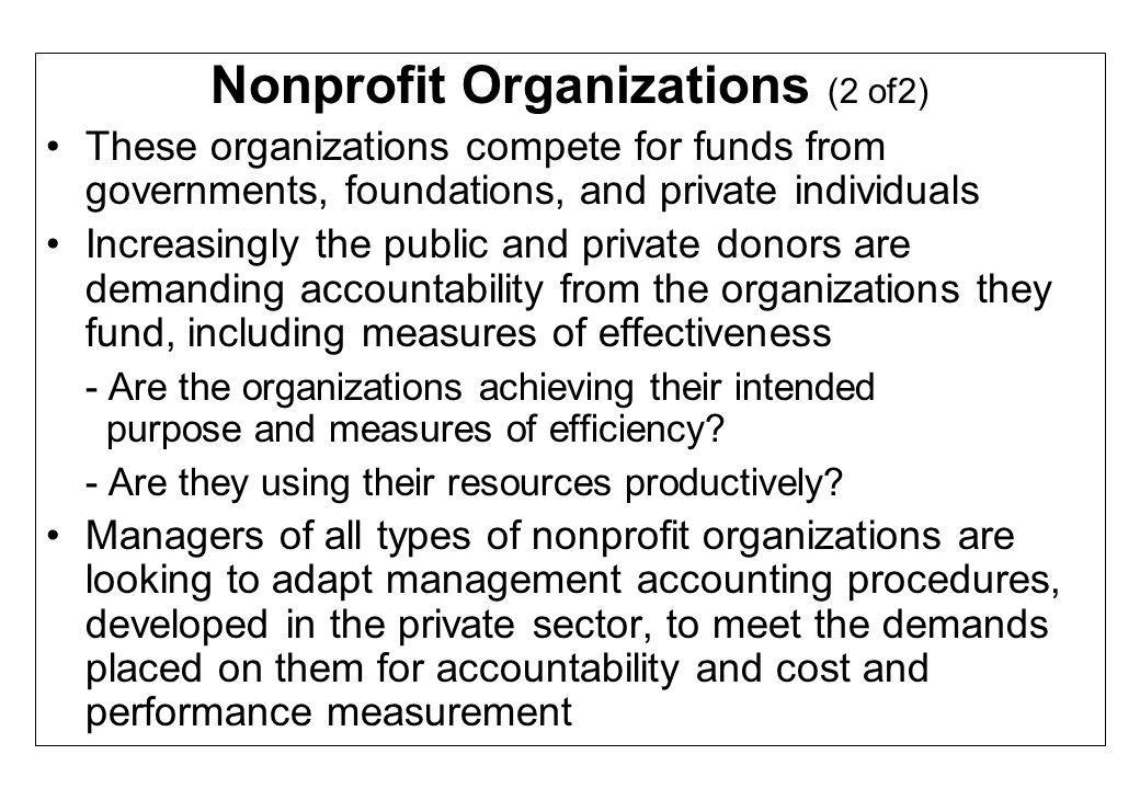Nonprofit Organizations (2 of2)