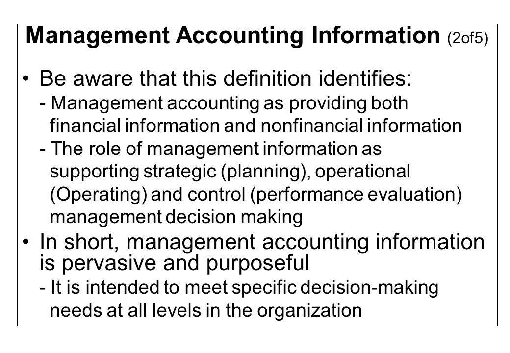 Management Accounting Information (2of5)