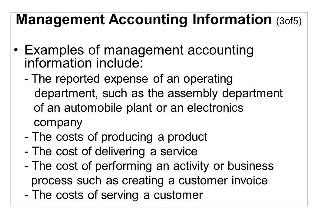 Management Accounting Information (3of5)