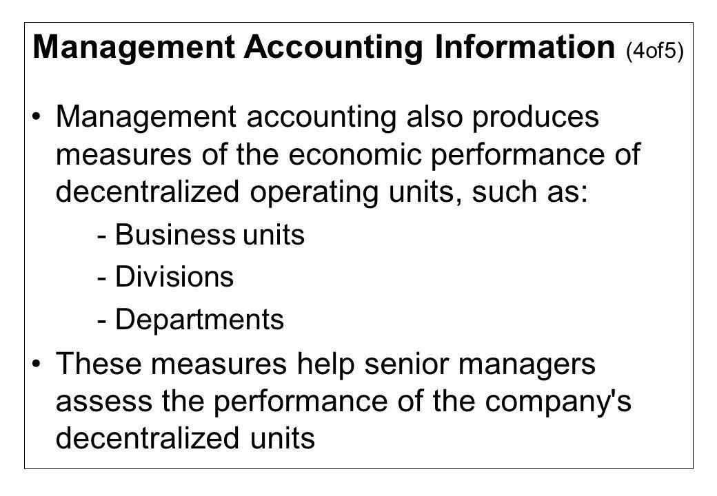 Management Accounting Information (4of5)