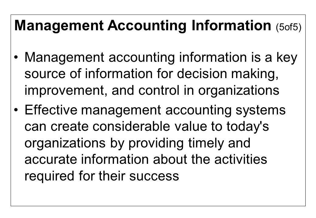 Management Accounting Information (5of5)