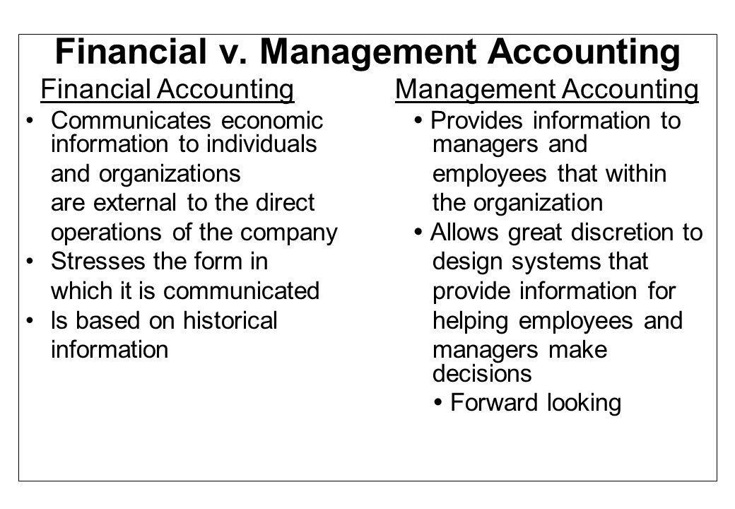 Financial v. Management Accounting
