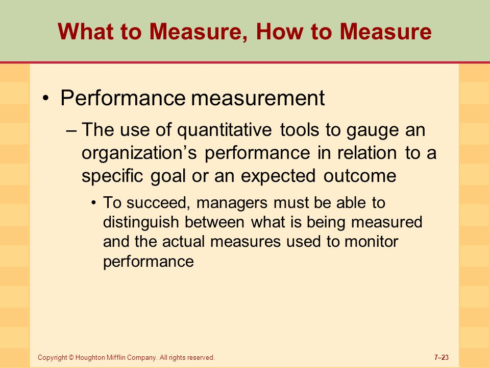 What to Measure, How to Measure