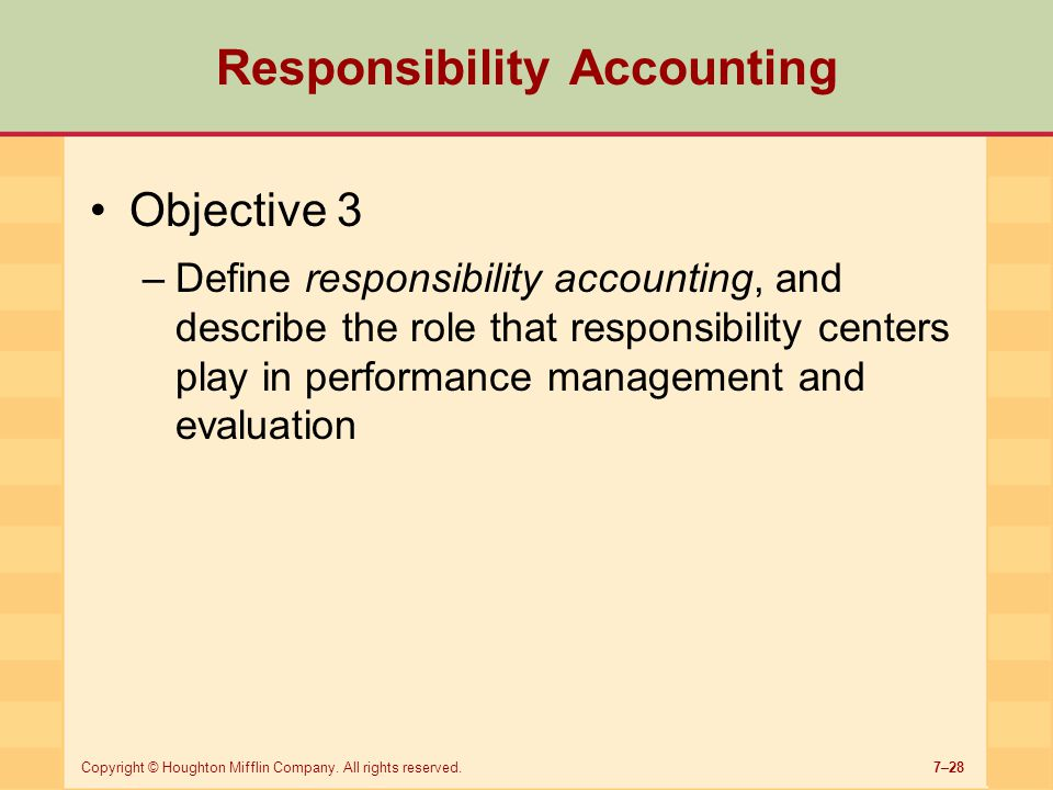 responsibility accounting 22-1 chapter responsibility 22 accounting and transfer pricingmcgraw-hill/irwin © the mc.