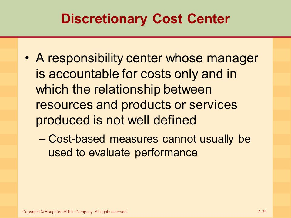 discretionary responsibility Discretionary responsibility discretionary trusts and the concept of a sham trust (a) the central theme regarding trusts is that they are assets that are legally owned by the trustees and not the beneficiaries.