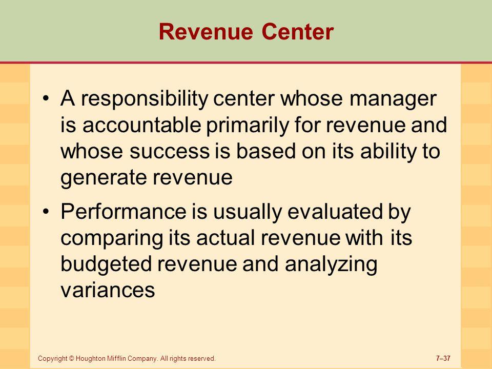 Revenue Center