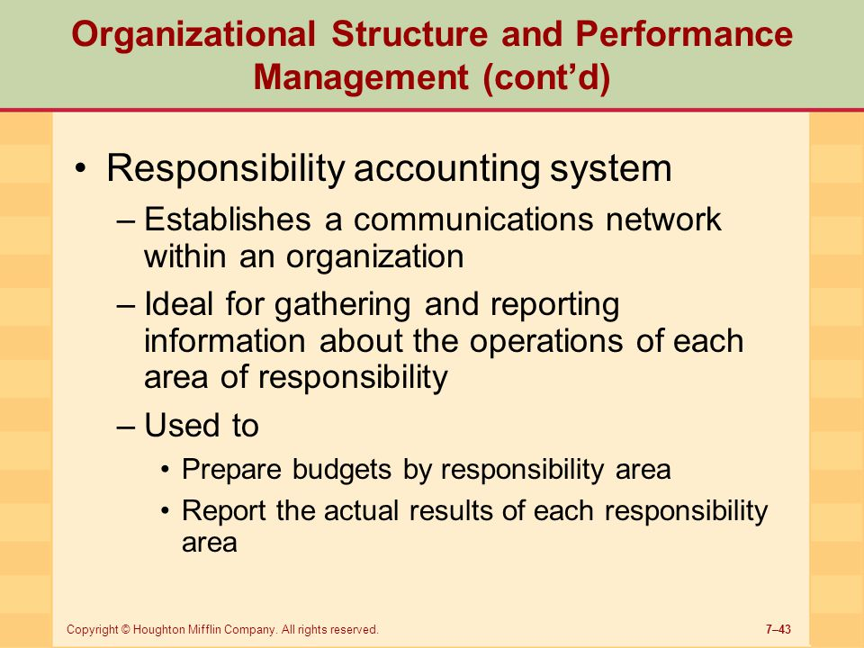 organizational structures performance evaluation of 2018/08/20  organizational structures can inhibit or promote performance, depending how effectively the supervisory relationships and workflow influence productivity these define departmental structure and the reporting hierarchy.